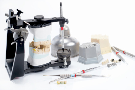 Dental lab articulator and equipments for denture.