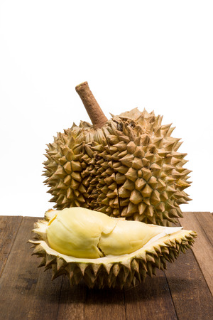 tabel: Thai Durian on tabel isolate white background