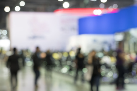 sociability: Blurred photo of event with people, background uses