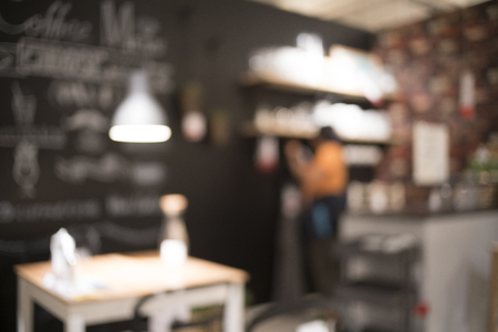 shop for: Blurred of coffee shop for backgrounds uses. Stock Photo