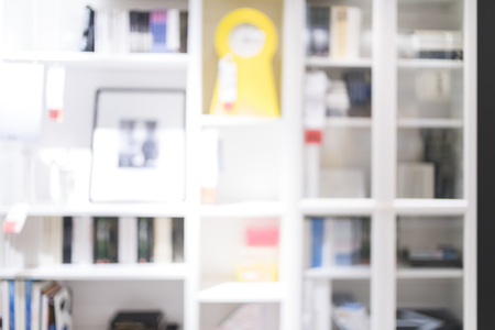 uses: Blurred of bookshelf for backgrounds uses.