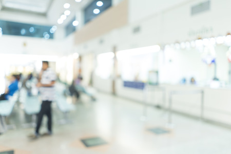 visitador medico: Blurred image of patient waiting for see doctor. for background uses