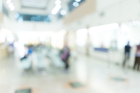 healthcare visitor: Blurred image of patient waiting for see doctor. for background uses