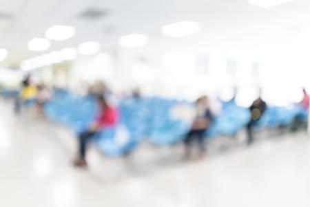 visitador medico: Imagen borrosa de espera de los pacientes para ver al m�dico. para usos fondo