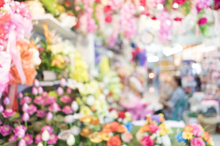 uses: Blurred image of flowers for backgrounds uses