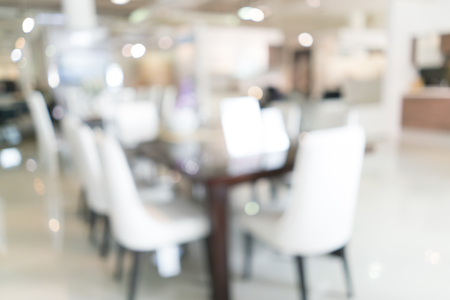 uses: Blurred image of dining room for background uses.