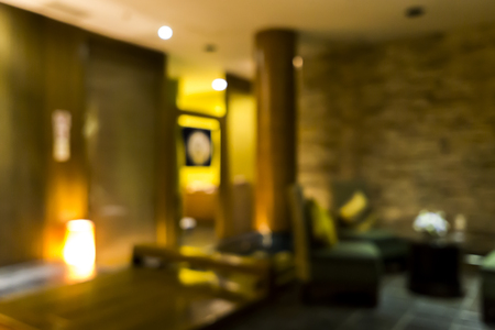Blurred image of lobby in spa for background use.