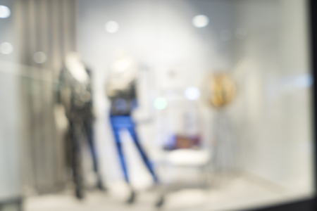 shop for: Blurred image of clothes shop for background uses.