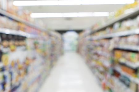 uses: Blurred image of suppermarket shelf for background uses.