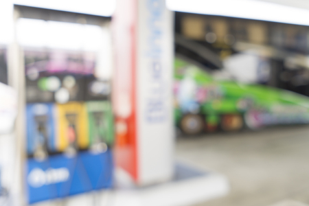 Blurred image of Gas Station for background use.
