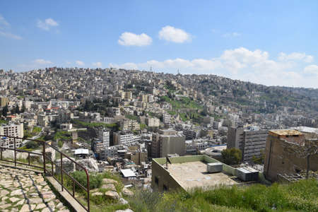View over Amman from Citadel Mountain, Jordan Banque d'images