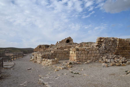 Ruins of the old crusader castle Shobak in Jordan