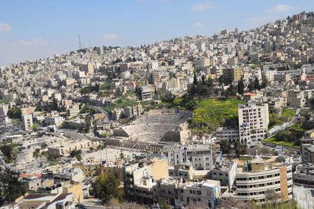 View over Amman from Citadel Mountain, Jordan