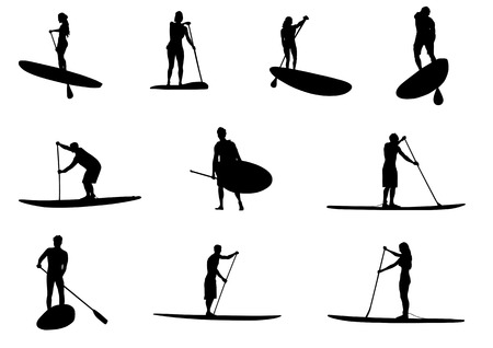 paddle: SUP Silhouette