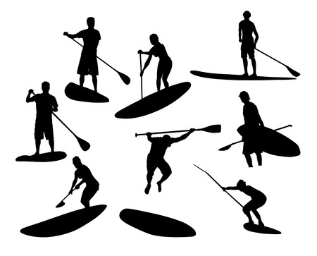 sup: SUP Silhouettes  2 Illustration