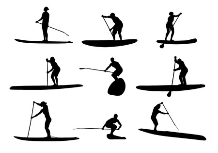 966 paddle board stock vector illustration and royalty free paddle rh 123rf com paddle board images clip art Stand Up Paddle Clip Art