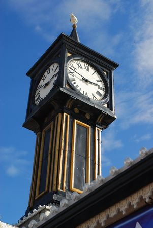 holidays vacancy: The tower clock, Brighton pier, UK, Europe