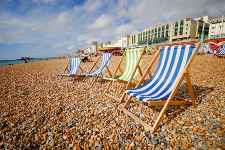 holidays vacancy: beach and landscape at Brighton ( south coast, UK) Stock Photo