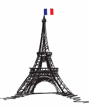 Eiffel Tower in Paris , Europe  Stock Photo