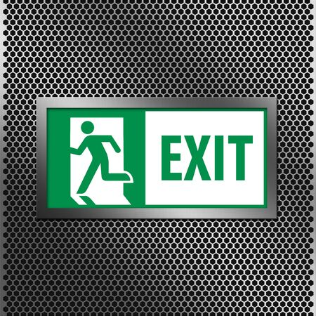 Symbol of Fire Exit Sign photo