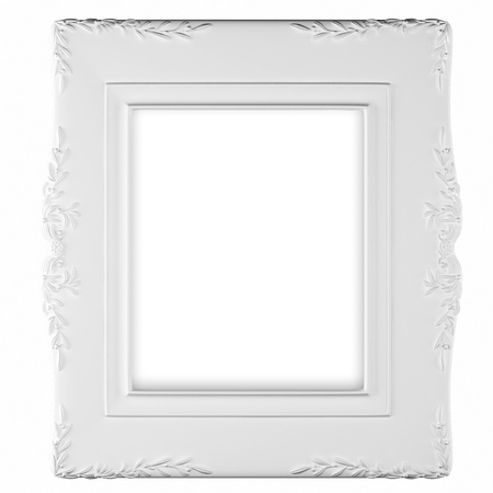 White photo frame. isolate