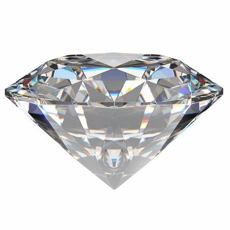 ダイヤモンド: 白い背景の上のダイヤモンドの宝石。