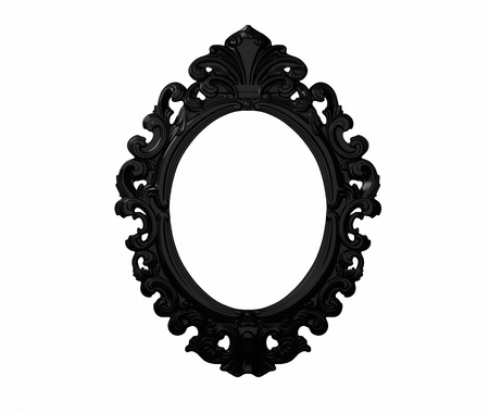 vintage black frame. Stock Photo - Vintage Black Ornate Frame Vintage A