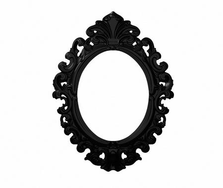 Vintage black ornate frame