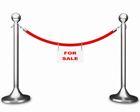rope barrier: rope barrier for sale Stock Photo