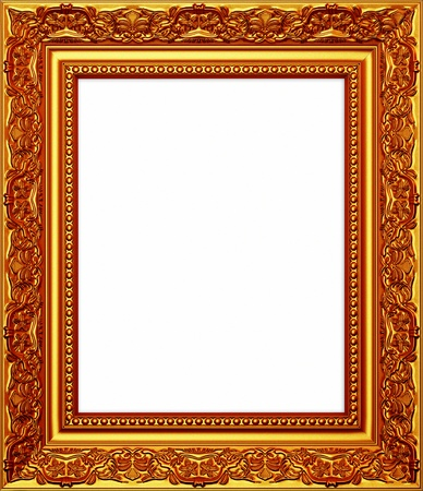 Isolated wooden Photo Frame photo