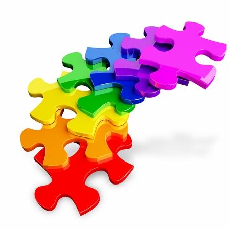 3d kleurrijke puzzel Stockfoto