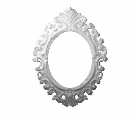 3D White photo frame.