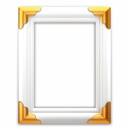 simple frame: White picture frame