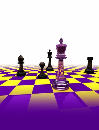 strategical: knight on chess board