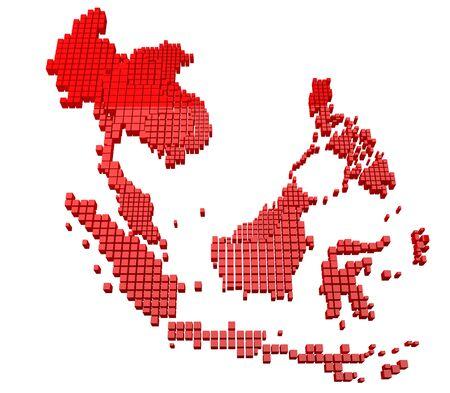 Red Asean Map