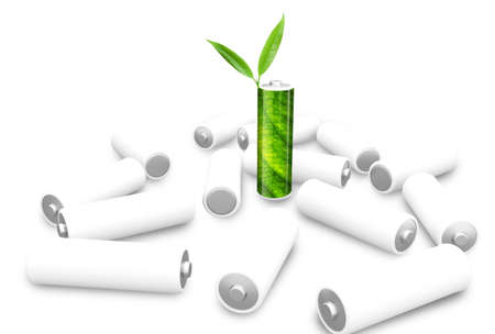 Green and white Battery