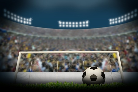 Football stadium cheer Stock Photo