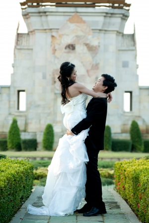 happily: young couple in wedding