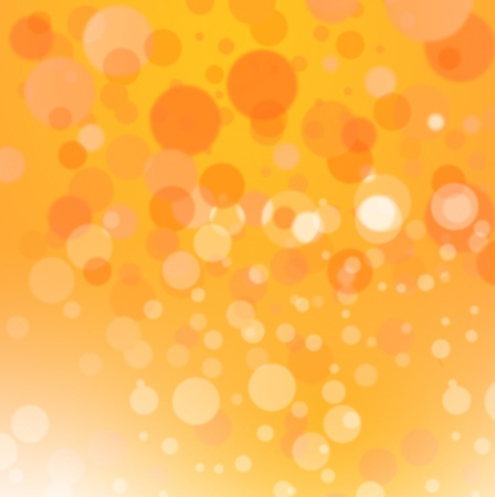 Colorful abstract image - yellow orange circles or spheres representing concentrations of energy bubbles  Artistic rendering of a concentrated star nursery or galaxy disk of stars   Stock Photo