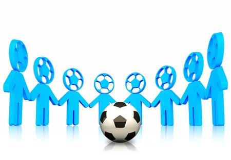 3d football team Stock Photo
