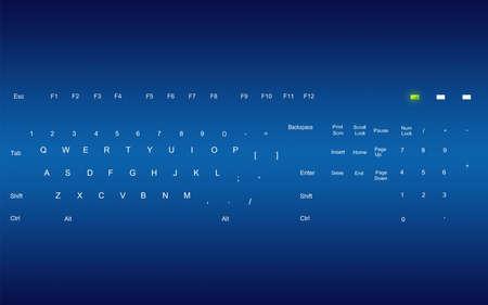 programing: blue keyboard  Stock Photo