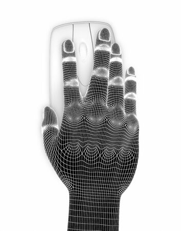 3d Hand with computer mouse Stock Photo - 16050923