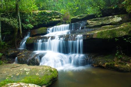 瀑布,phukradung;国家公园,泰国