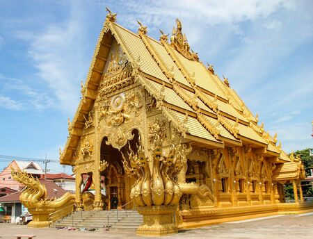 WAT SI PANTON TEMPLE,NAN,THAILAND 스톡 콘텐츠