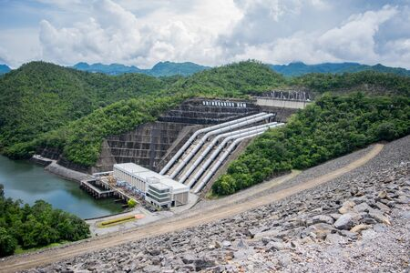 View around Srinakarin Dam is located at Ban Chao Nen, Tha Kradan District Si Sawat District Kanchanaburi, Thailand.