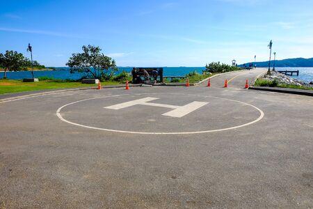 Helicopter landing pad at Khao Laem Ya National Park, Rayong.