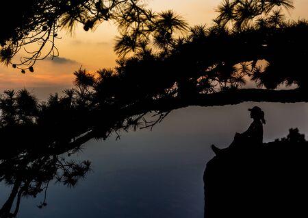 Evening view at Lom Sak Cliff Stock fotó