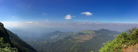 View of Phu Soi Dao Peak 2102, which is the border between Thailand and Laos.