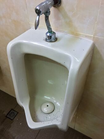 The urinal is installed in the men's toilet.