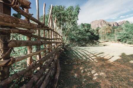 Bamboo fence with a rural atmosphere.